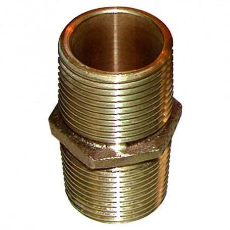 GROCO Bronze Pipe Nipple - 1-1-2- NPT