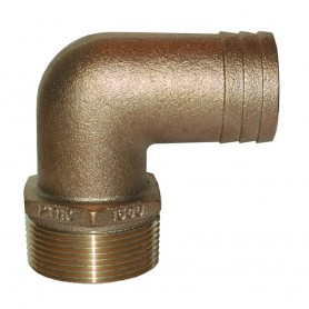 GROCO 1-2- NPT Bronze 90 Degree Pipe to 1-2--5-8- ID Hose