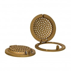 GROCO Bronze Round Hull Strainer w-Access Door f-Up To 1- Thru-Hull