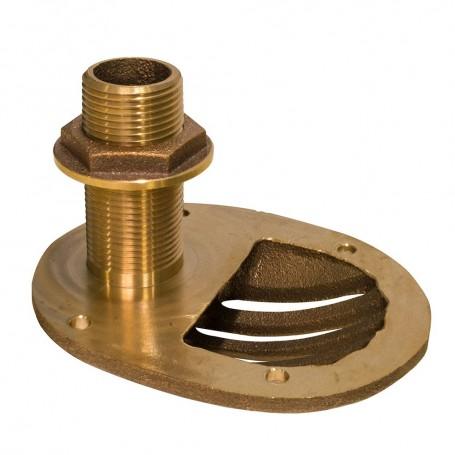 GROCO 1-1-2- Bronze Combo Scoop Thru-Hull w-Nut