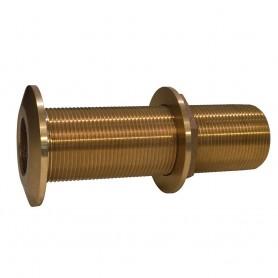 GROCO 1-1-2- Bronze Extra Long Thru-Hull Fitting w-Nut