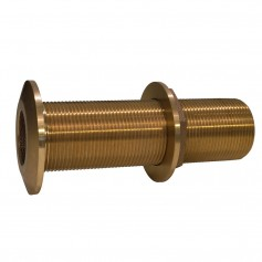 GROCO 1-1-2- Bronze Extra Long Thru-Hull Fitting w-Nut