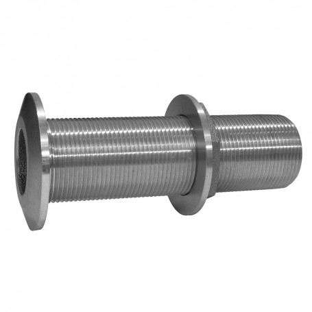 GROCO 1-1-2- Stainless Steel Extra Long Thru-Hull Fitting w-Nut