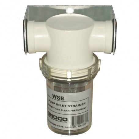 GROCO 1-1-4- Fresh Water Strainer w-Plastic Basket