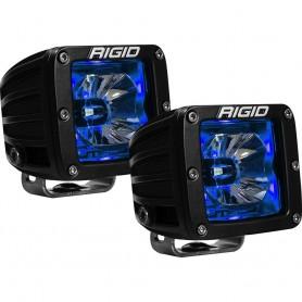 RIGID Industries Radiance Pod Blue Backlight Black Housing - Pair