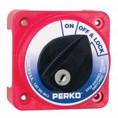 Perko 9612DP Compact Medium Duty Main Battery Disconnect Switch w-Key Lock