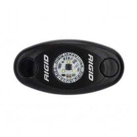 RIGID Industries A-Series Black High Power LED Light Single - Cool White