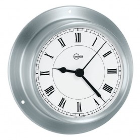 BARIGO Sky Series Quartz Ships Clock - Brushed Stainless Steel Housing - 3-3- Dial
