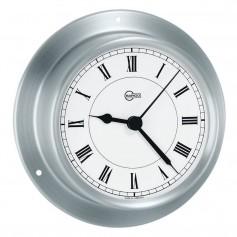 BARIGO Sky Series Quartz Ships Clock - Brushed Stainless Steel Housing - 3-3- Dial