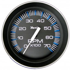 Faria 4- Tachometer -7000 RPM- -All Outboard- Coral w-Stainless Steel Bezel