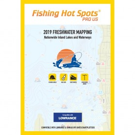 Fishing Hot Spots PRO USA 2019 Freshwater Mapping Nationwide Inland Lakes Waterways f-Lowrance Simrad Units