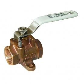 GROCO 1-4- NPT Bronze Inline Fuel Valve