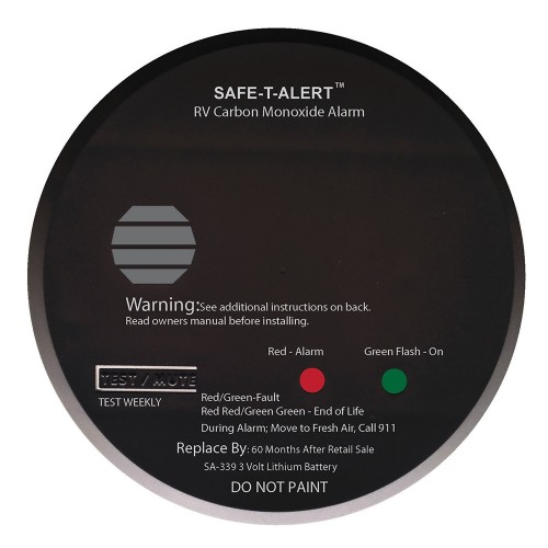 Safe-T-Alert SA-339 Black RV Battery Powered CO2 Detector