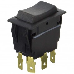 Cole Hersee Sealed Rocker Switch Non-Illuminated DPDT On-Off-On 6 Blade