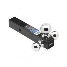 Draw-Tite Tri-Ball Mount 2- Square Solid Shank w-Chrome 1-7-8-- 2- 2-5-16- Balls - Black