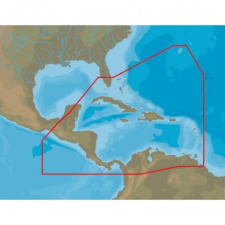 C-MAP NA-Y065 Caribbean Central America -microSD-SD