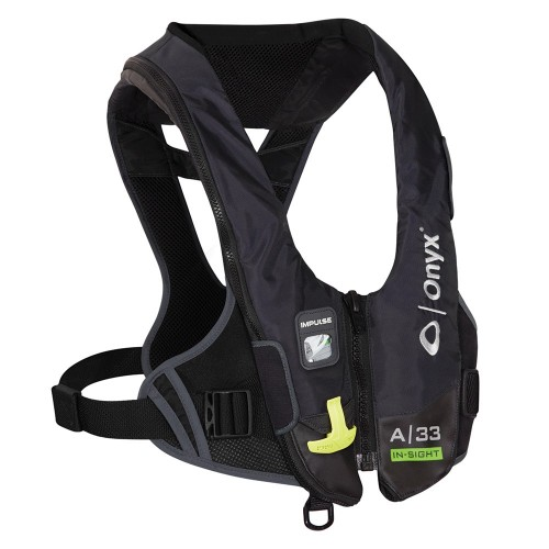 Onyx Impulse A-33 In-Sight Automatic Inflatable Life Jacket -PFD- - Black