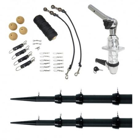 Tigress XD Top Mount System - 18 Carbon Fiber Black-Black Ultimate Rigging Kit