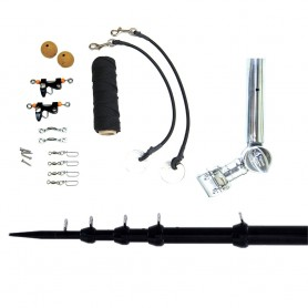 Tigress T-Top Clamp-On Telescoping System - 1-1-2- - Black