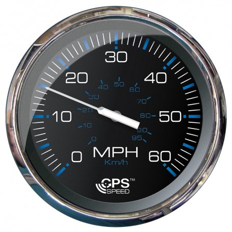 Faria 5- Speedometer -60 MPH- GPS -Studded- Chesapeake Black w-Stainless Steel