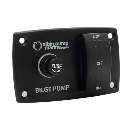 Albin Pump 3-Way Bilge Panel - 12-24V