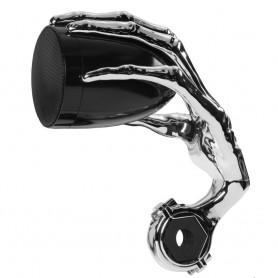Boss Audio 3- PHANTOM Speakers w-Built-In Amplifier - Black-Chrome - Pair