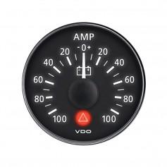 VDO ViewLine Onyx 2-1-16- 100A Ammeter - Bezel NOT Included