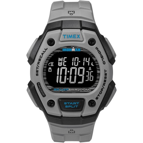 Timex IRONMAN Classic 30 41mm Full-Size Resin Strap Watch - Black-Grey