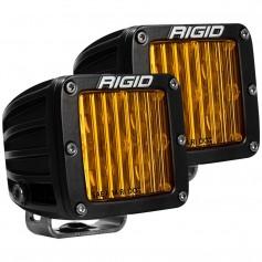 RIGID Industries D-Series SAE Compliant Fog Light - Black w-Yellow Light