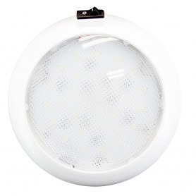 Innovative Lighting 5-5- Round Some Light - White-Red LED w-Switch - White Housing