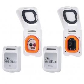 SmartPlug Combo Kit w-ELCI Sensor 50 Amp Breaker Non-Metallic Door - White