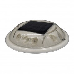 Hydro Glow C1B Round Solar Dock- Deck Pathway Light - Blue