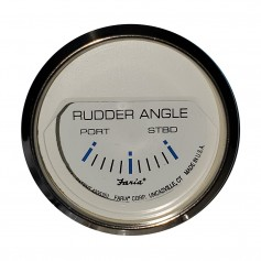 Faria 2- Rudder Angle Indicator - Chesapeake White w-Stainless Steel Bezel