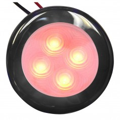 Aqua Signal Bogota 4 LED Round Light - Red LED w-Stainless Steel Housing
