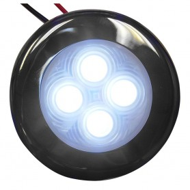 Aqua Signal Bogota 4 LED Round Light - White LED w-Stainless Steel Housing
