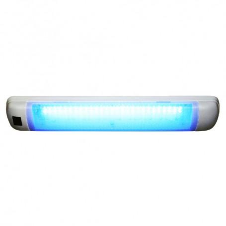 Aqua Signal Maputo Rectangular Multipurpose Interior Light w-Rocker Switch - Blue-White LED