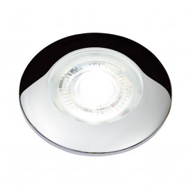 Aqua Signal Atlanta Mini High Power Mini LED Downlight - White-Red LED - Chrome Housing