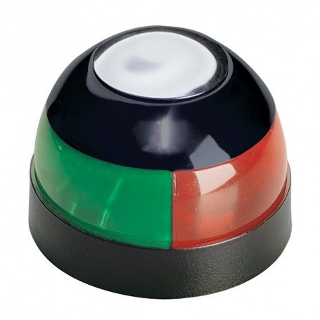 Aqua Signal Series 22 Bi-Color Deck Mount Light - 10W - Black Housing