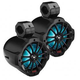 Boss Audio 6-5- Amplified Wake Tower Multi-Color Illuminated Speakers - Black