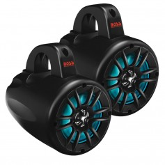 Boss Audio 4- Amplified Wake Tower Multi-Color Illuminated Speakers - Black