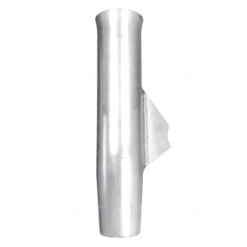 Tigress Weld On Aluminum Flared Rod Holder w-Blade Mill Finished 10-