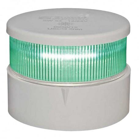 Aqua Signal Series 34 All-Round Mast Mount Light - Green LED - White Housing