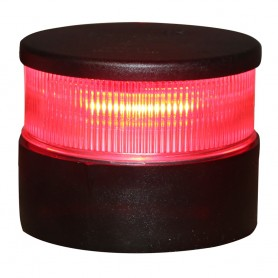Aqua Signal Series 34 All-Round Mast Mount Light - Red LED - Black Housing