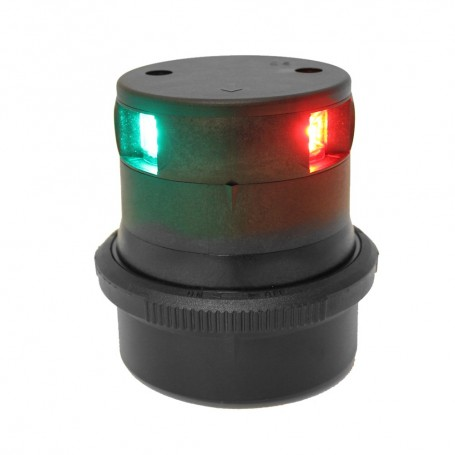 Aqua Signal Series 34 Tri-Color Mast Mount LED Light - Black Housing