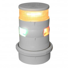 Aqua Signal Series 34 Tri-Color-Anchor Mast Mount LED Light - White Housing
