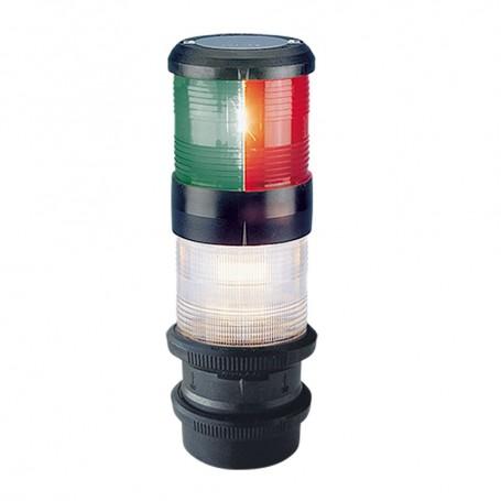 Aqua Signal Series 40 Tri-Color-Anchor Deck Mount Light w-quicfits- Black Housing