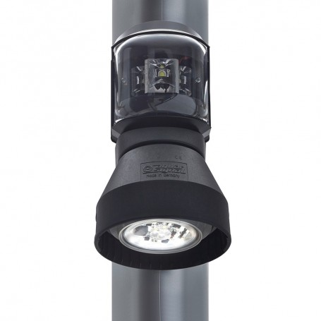 Aqua Signal Series 43 Masthead-Foredeck Mast Mount LED Combo Light - 12V-24V - Black Housing