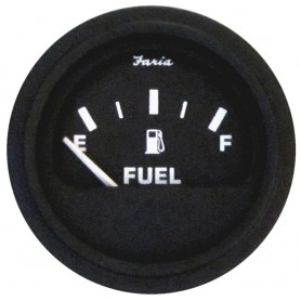 Faria Heavy-Duty Fuel Level Gauge -E-1-2-F- - Black -Bulk Case of 24-