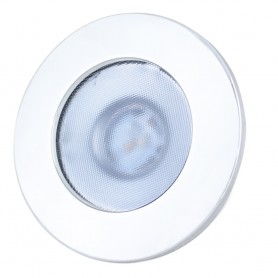 Lunasea Gen 3 Indoor-Outdoor Recessed 3-5 LED Light - 2700K 85 CRI Dimmable COB LED - Warm White-White SS Bezel
