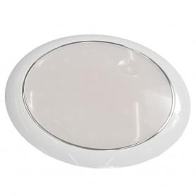 Innovative Lighting 5- Round 42 Cool White LED w-Touch Switch - White Bezel - 12-24V